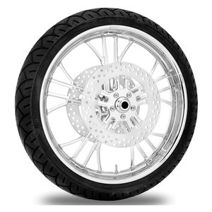 Performance Machine Dixon 21 X 3.5 Front Wheel / Rotor / Tire Kit For Harley Touring 2008-2013