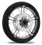 Performance Machine Dixon 21 X 3.5 Front Wheel / Rotor / Tire Kit For Harley Touring