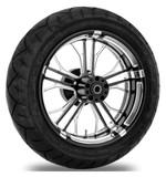 Performance Machine Dixon 17 x 6 Rear Wheel / Metzeler Tire Kit For Harley Touring 2009-2016