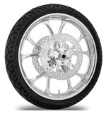 Performance Machine Luxe 21 X 3.5 Front Wheel / Rotor / Tire Kit For Harley Touring 2008-2013