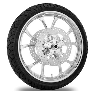 Performance Machine Luxe 21 X 3.5 Front Wheel / Rotor / Tire Kit For Harley Touring