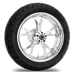 Performance Machine Luxe 17 x 6 Rear Wheel / Metzeler Tire Kit For Harley Touring 2009-2016