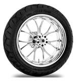 Performance Machine Heathen 17 x 6 Rear Wheel / Metzeler Tire Kit For Harley Touring 2009-2016