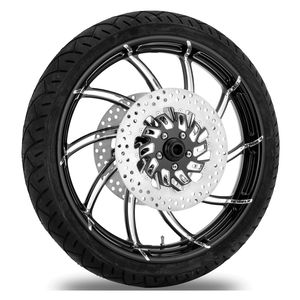 Performance Machine Supra 21 X 3.5 Front Wheel / Rotor / Tire Kit For Harley Touring 2008-2013