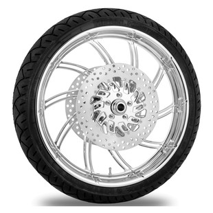 Performance Machine Supra 21 X 3.5 Front Wheel / Rotor / Tire Kit For Harley Touring