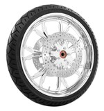 Performance Machine Paramount 21 X 3.5 Front Wheel / Rotor / Tire Kit For Harley Touring 2008-2013