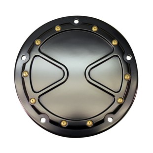 Carl Brouhard Bomber Derby Cover For Harley Touring 2015-2017 Black [Open Box]