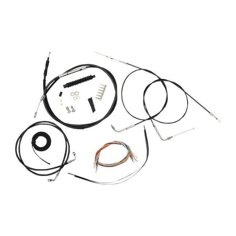 la choppers handlebar cable brake line and wire kit for harley rh revzilla com