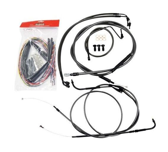 La Choppers Handlebar Cable Brake Line And Wire Kit For Harley