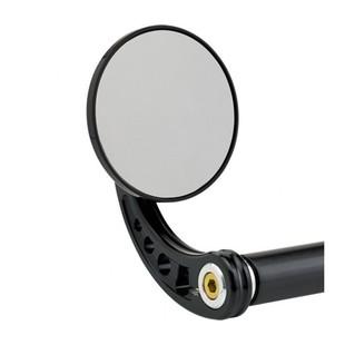 Joker Machine Large Round Bar End Mirror Curved Stem / Black [Blemished - Very Good]