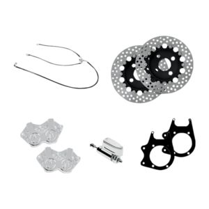 Performance Machine Stage 2 4-Piston Caliper / Rotor Rear Brake Kit For Harley Trike 2009-2013