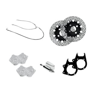 Performance Machine Stage 2 4-Piston Caliper / Rotor Rear Brake Kit For Harley Trike 2009-2013