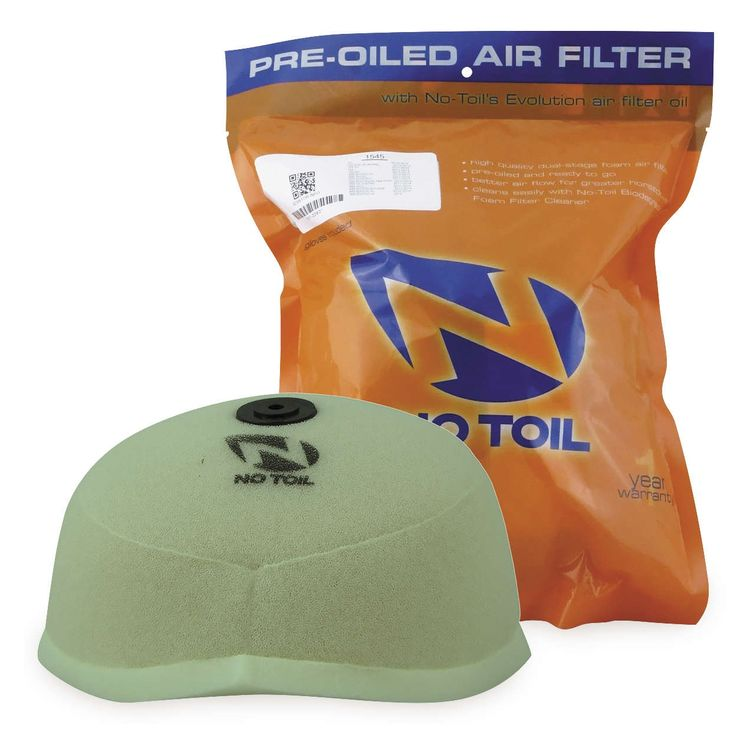 No Toil Pre Oiled Air Filter Yamaha WR250F / WR450F 2003-2015