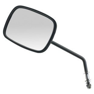 Custom Chrome OEM-Style Mirrors For Harley - Long Stem Right / Black [Blemished - Very Good]