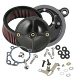 S&S Stealth Air Cleaner Kit For Shorty Super E / G Carb Harley Big Twin 1999-2006