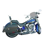 """Cycle Shack 3.25"""" Slip-On Mufflers For Harley Softail 2011-2017 Slash Out / Black [Previously Installed]"""