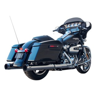 """Firebrand Exhaust 4"""" Loose Cannon Slip-On Muffler For Harley Touring 2017"""