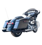 "Firebrand Exhaust 4"" Baritone Slip-On Mufflers For Harley Touring 2017"