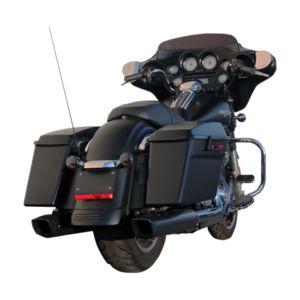 "Firebrand Exhaust 4"" Baritone Slip-On Mufflers For Harley Touring"