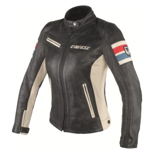 Women's lightweight leather motorcycle jacket