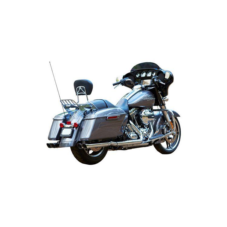 "Firebrand Exhaust 2 1/2"" Double Down Slip-On Muffler For Harley Touring"