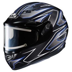 HJC CS-R3 Spike Snow Helmet - Electric Shield Black/White/Blue / LG [Open Box]