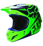 Fox Racing Youth V1 Race Helmet Flo Green / SM [Open Box]
