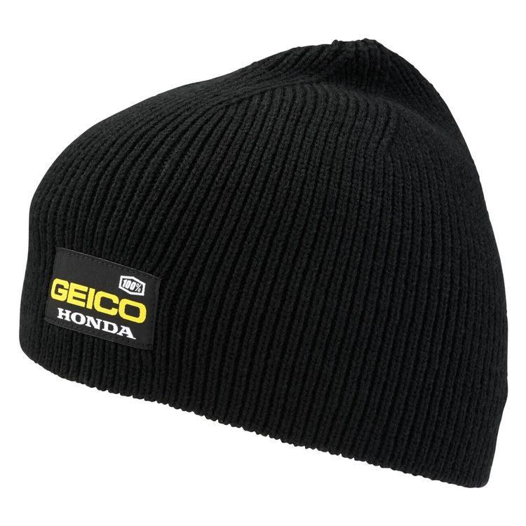 7852ec49868 100% Team Geico Honda Pit Beanie - RevZilla