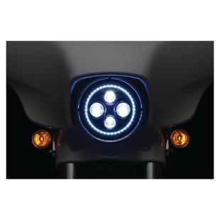 "Kuryakyn Orbit Vision 7"" LED Halo Headlight For Harley 1991-2018"