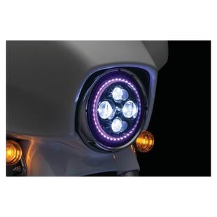 "Kuryakyn Orbit Prism 7"" LED Bluetooth Color Halo Headlight For Harley 1994-2017"