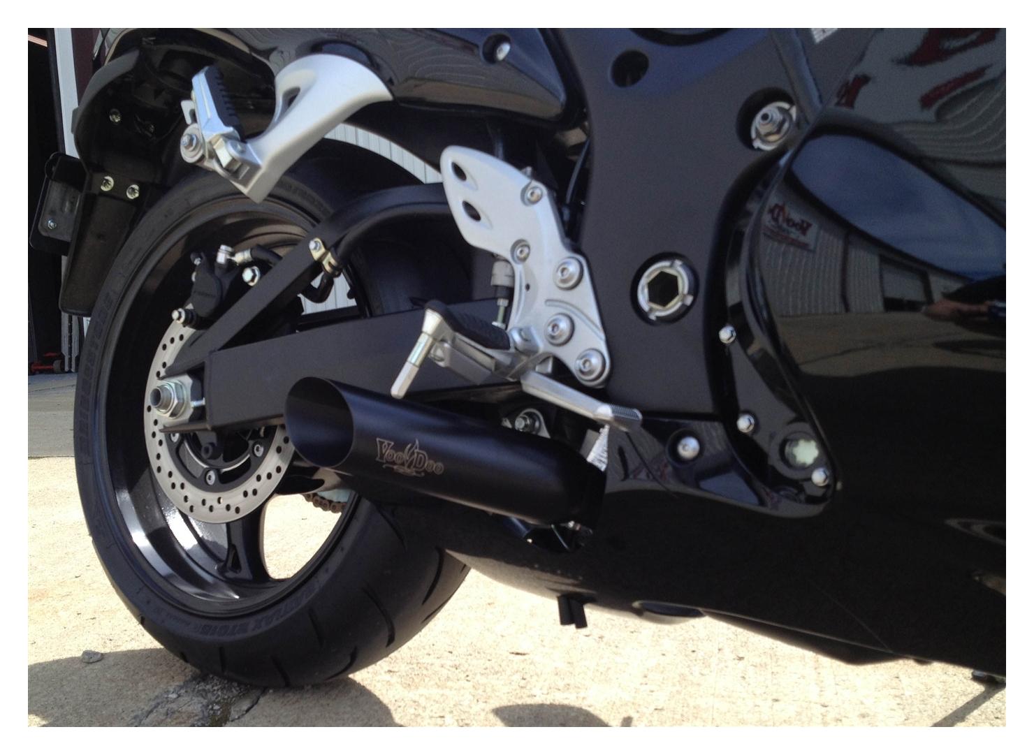 Voodoo Shorty Slip-On Exhaust Suzuki Hayabusa 2008-2019