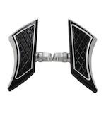 Eddie Trotta Platinum Cut Mini Folding Floorboards For Harley Black [Demo - Good]