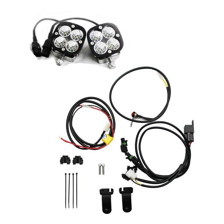 Black  sc 1 st  RevZilla & Baja Designs Squadron Pro LED Lighting Kit BMW R1200GS / Adventure ...