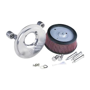 Arlen Ness Naked Stage 1 Big Sucker Air Cleaner For Harley Sportster 2016-2017 Standard Air Filter / Natural Back... [Previously Installed]