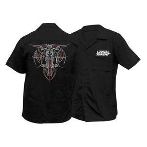 Lethal Threat Pinstripe Biker Shirt