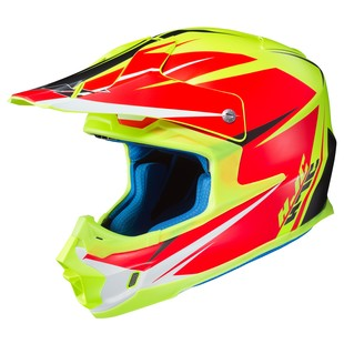 HJC FG-MX Axis Helmet (Color: Red/Hi-Viz / Size: SM)