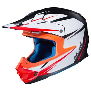 HJC FG-MX Axis Helmet (Color: White/Black/Red / Size: LG)