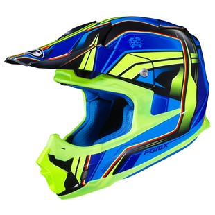 HJC FG-MX Piston Helmet (Color: Blue/Green / Size: SM)