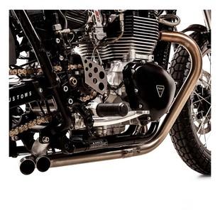 British Customs Slash Cut TT Exhaust Triumph Bonneville T100 / Scrambler / Thruxton