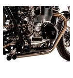 British Customs Slash Cut TT Exhaust Triumph Bonneville T100 / Scrambler / Thruxton