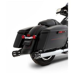 """Rinehart 4"""" Slotted Slip-On Mufflers For Harley Touring"""
