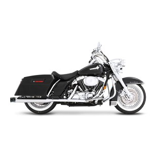 """Rinehart 3 1/2"""" Slotted Slip-On Mufflers For Harley Touring 1995-2009"""