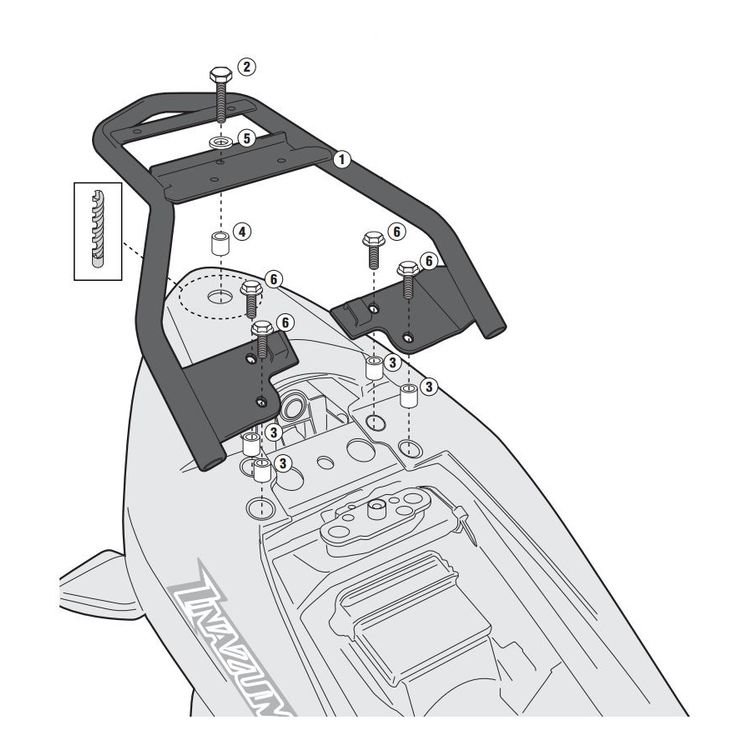 Givi SR3103 Monolock Top Case Rack Suzuki GW250 / F