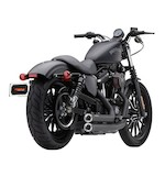 Cobra Speedster Shorts Exhaust For Harley Sportster 2007-2013 Black With Raw Race-Pro Tips [Previously Installed]