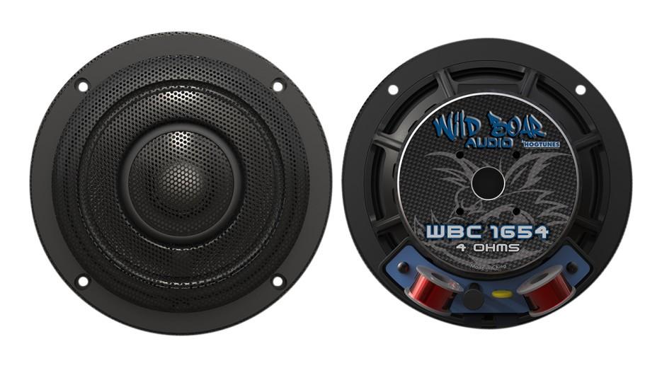 Wild Boar Audio WBC 1654 Rear 6.5 4 Ohm Rear Speakers With Grills for 2014 Harley-Davidson Ultra Models WBC 1654 Rear