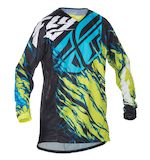 Fly Racing Youth Kinetic Relapse Jersey Lime/Blue / SM [Demo - Good]