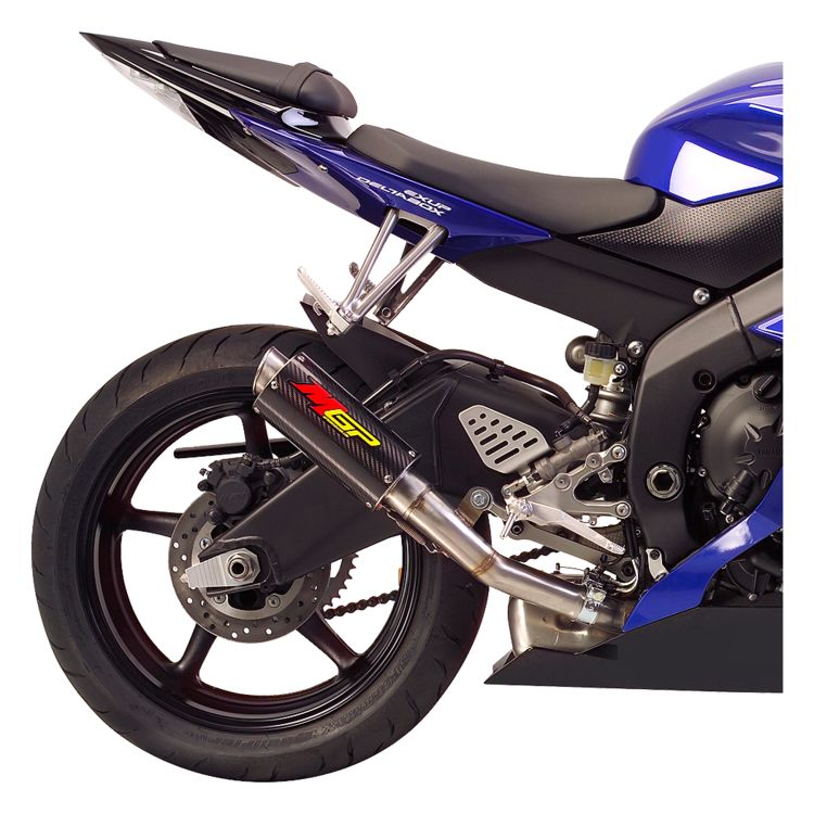 Hotbodies racing mgp slip on exhaust yamaha r6 2006 2018 for Yamaha r6 carbon fiber exhaust