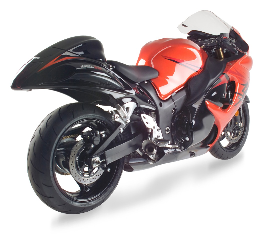 hotbodies racing megaphone slip on exhaust suzuki hayabusa 2008 2019 10 off revzilla. Black Bedroom Furniture Sets. Home Design Ideas