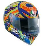 AGV K3 SV Five Continents Helmet Blue / MS [Open Box]