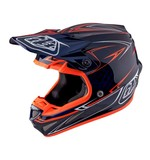Troy Lee SE4 Pinstripe Carbon Helmet Navy/Orange / XL [Blemished - Very Good]